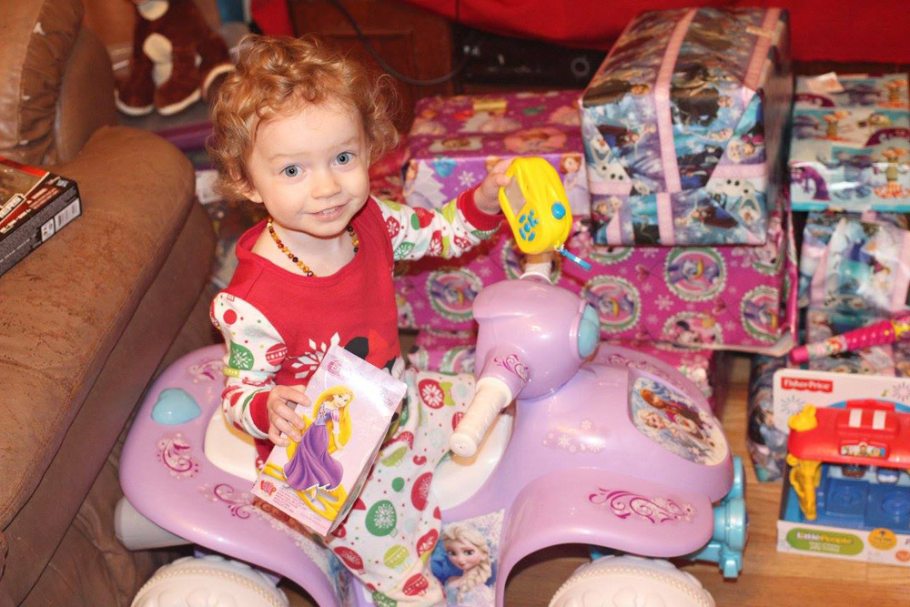 Wynter on Christmas morning