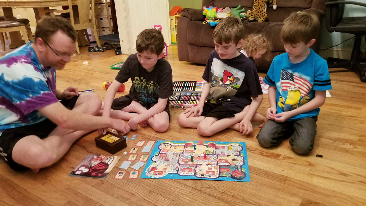 quality time playing a board game