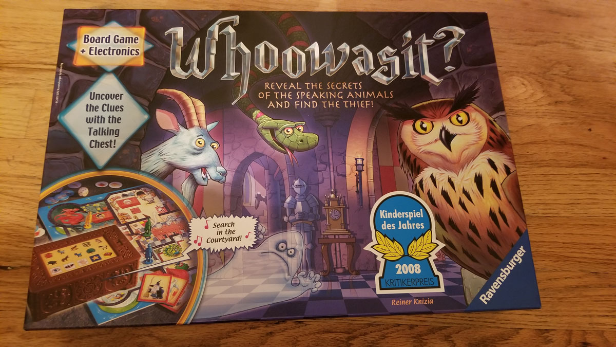 Whoowasit Board Game box