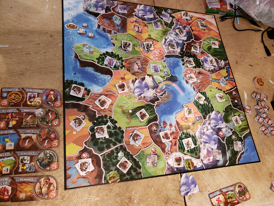 Small World game board in play